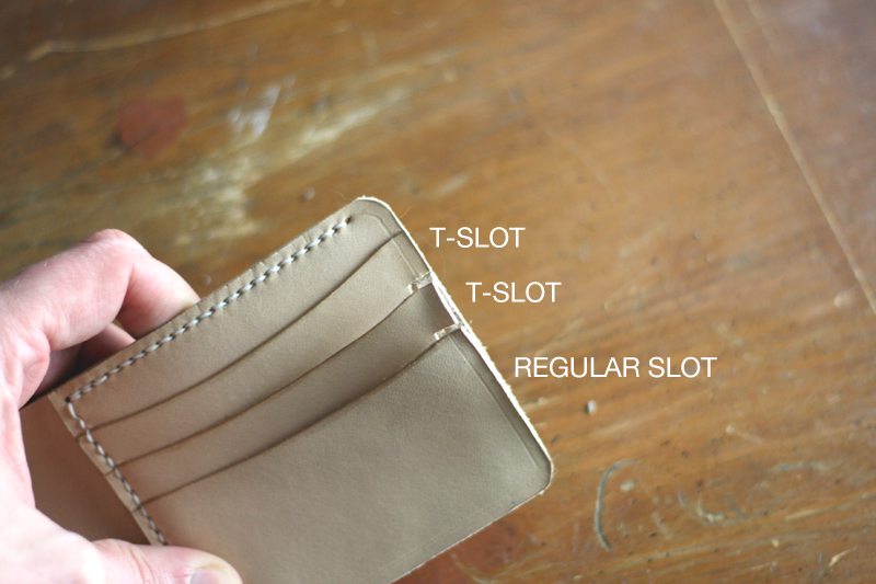 Making Leather Wallet T-Slots