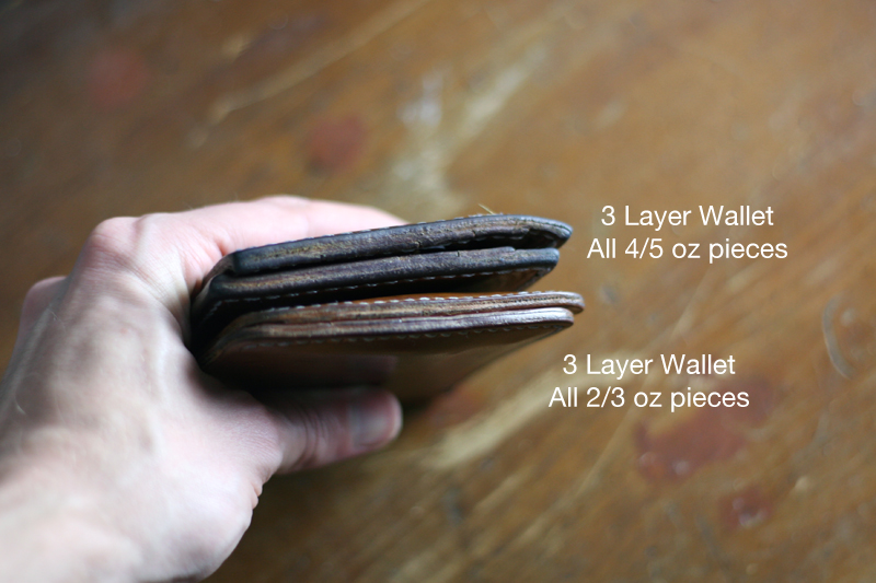 Making a Leather Wallet Thickness