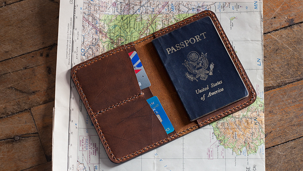 Make A Leather Passport Cover Template