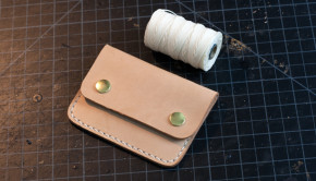 Make a Leather Snap Wallet Tutorial