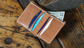 Make A Free Leather Bi-Fold Wallet - Template