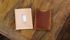 Make A Leather Card Sleeve Template - Tutorial