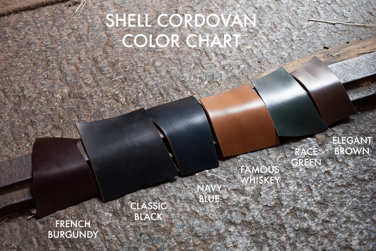 Italian Shell Cordovan Color Chart
