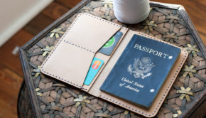 Laser Cutting A Leather Passport Case