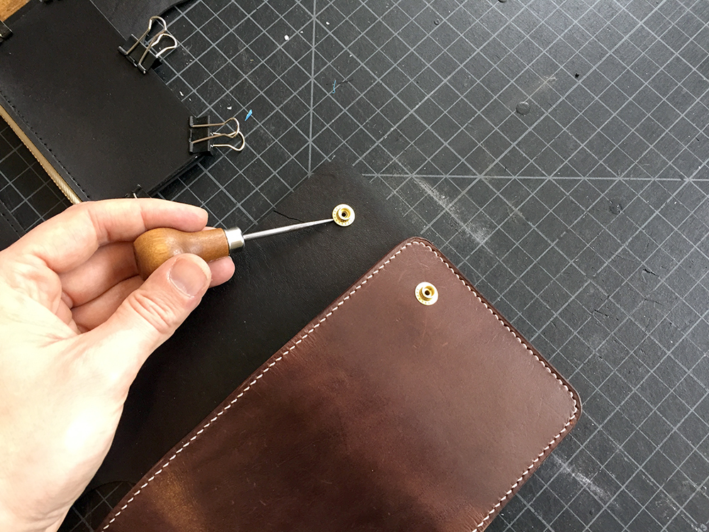 Leather Vertical Snap Wallet Build Along Tutorial