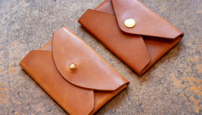 Make a No-stitch Leather Envelope Card Holder Free PDF Template Set