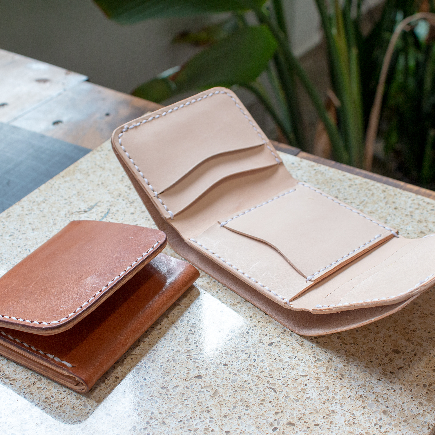 Long biker wallet leather patternleather template with instruction