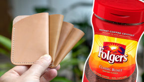 Dye Leather With Instant Coffee