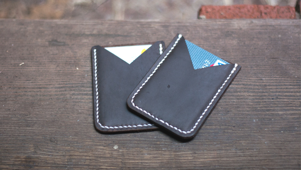 making a leather card holder  free pdf template
