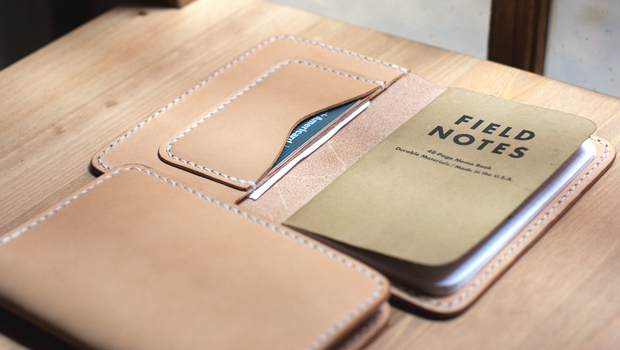 field notes leather case template