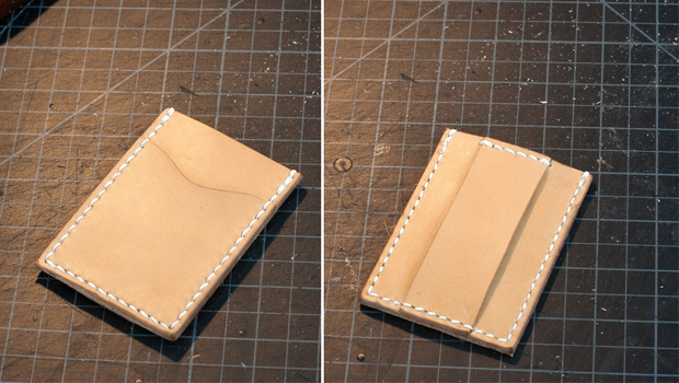 Leather Cash Strap Card Wallet - Free Pdf Template