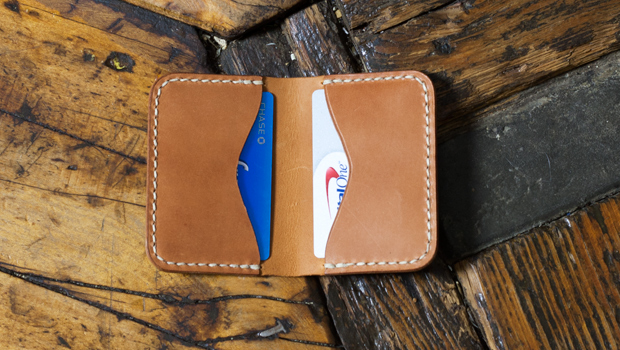 Make A Folded Leather Card Holder Free Template Build