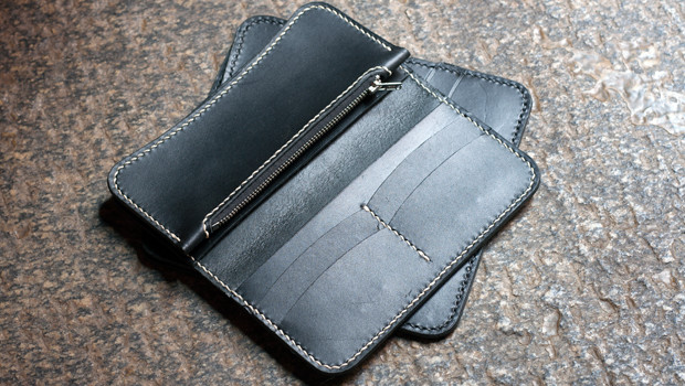 Leather Zipper Long Wallet Template